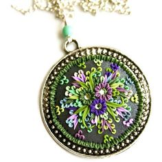 picnic in the forest  pendant by ChiliCrab on Etsy, $65.00