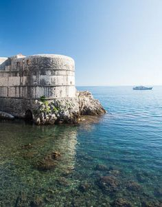 Old Port of Dubrovnik in front of the city walls. Croatia