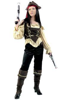 Womens Rustic Pirate Costume