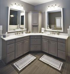 L shaped bathroom vanity double sinks dream home bathroom rustic bathroom vanities l for L shaped double sink bathroom vanity