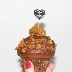 Notre muffin du mois de février : le choco coeur spéculoos :)