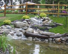 Waterfall created by Across The Pond Aquascapes in Doylestown, PA. #WaterfallWednesday