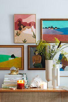 Wall Art Decor, Room Decor, Wall Art Bedroom, Gallery Wall Bedroom, Gallery Walls, Room Art, Framed Wall Art, Wall Decals, Anthropologie Christmas