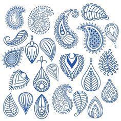 Oriental leaf doodles by ssstocker on Creative Market