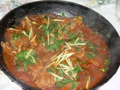 Balti gosht, a type of chicken curry