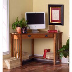 Mission-style Corner Desk
