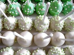 Green Wedding Cake Pops!