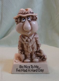1977 Hard Day Figurine Russ Berrie Sillisculpt Figure