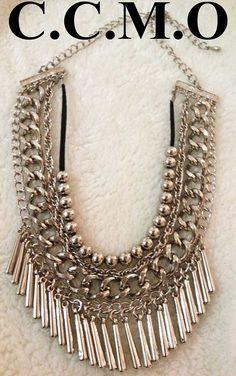 Collar Perchera - $ 180,00 en MercadoLibre Tribal Necklace, Diy Necklace, Jewelry Art, Jewelry Design, Fashion Jewelry, Cool Necklaces, Silver Necklaces, Polymer Clay Pendant, Bijoux Diy