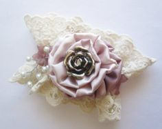 Items similar to Shabby Chic Wrist Corsage & Boutonniere, ivory ...