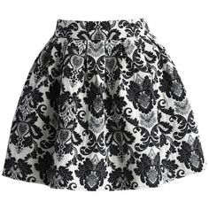 Chicwish Retro Floral Jacquard Mini Skirt ($36) ❤ liked on Polyvore featuring skirts, mini skirts, bottoms, saias, multi, flower print skirt, retro skirts, floral jacquard skirt, short skirts and floral printed skirt
