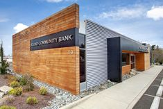 From Burger King to bank. We stripped the abandoned fast-food building down to the slab and worked off of the existing footprint. This high-end branch intr...