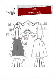 Asuna Yuuki cosplay Patterns