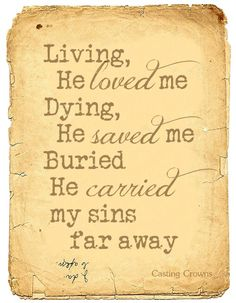 Living, dying,buried...