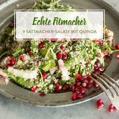 Du hast Lust auf einen Salat - auf einen Salat, derdich fit hält und satt macht? Dann sind diese 9 Sattmacher-Salate mit Quinoa genau das Richtige für dich.