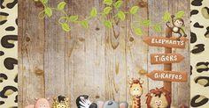 OLÁ AMIGAS!   Hoje vamos viajar nesse lindo kit Safari que nossa querida amiga Danitiele Cotrin Parra enviou.    Convite       Bandeirinha ... Safari Party, Jungle Safari, Jungle Theme Birthday, Birthday Party Themes, Giraffe, Elephant, Festa Party, Scrapbooking, Scrapbook Embellishments