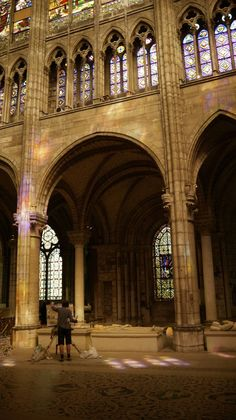 Stained glass at St Denis Basilica in France