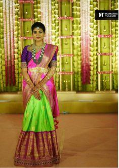 Half Saree Lehenga, Lehnga Dress, Lehenga Style, Anarkali, Wedding Card Design Indian, Indian Wedding Makeup, Indian Wedding Hairstyles, Half Saree Designs, Lehenga Designs