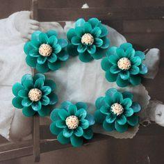 Polymer Clay Perlen - 10pcs Bunte Gerbera-Blumen-Harz Cabochon-18mm - ein Designerstück von chengxun bei DaWanda