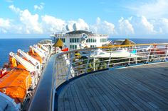 Aboard the deck of Carnival Fascination cruise ship.  www.traveladept.com