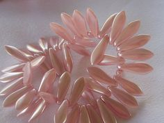 Czech Pink Satin Daggers 16 pieces by simplysurina on Etsy, $2.50