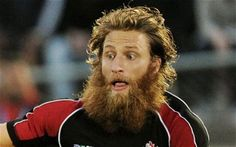 Adam Kleeberger.  What an amazing name for starters, and a hefty ginger beard to boot.  The Canadian rugby union player has 35 caps for his country, and I'm sure nobody messes with him or his beard.