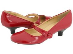 For those of you who love kitten heels: Red Mary Jane Kitten Heels