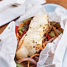 Heart-Healthy Seafood Recipes | Gulf Fish en Papillote | CookingLight.com