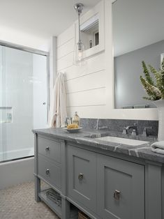 Love the soapstone countertop Traditional Bathroom by Casa Verde Design Grey Bathrooms, Beautiful Bathrooms, Small Bathroom, Bathroom Ideas, Master Bathroom, Basement Bathroom, Bath Ideas, Bungalow Bathroom, Marble Bathrooms