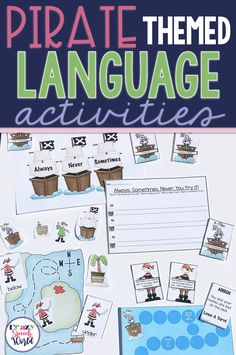 Pirate Language Activities