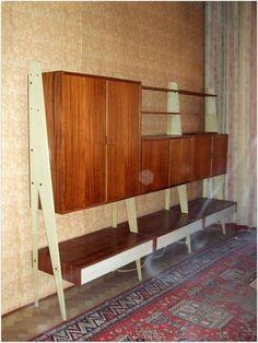 Mid Century Designer Regal System Danish Modern Schubladen Schrank 60s Holz weiß   eBay