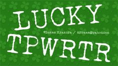 Image for LUCKY TYPEWRITER font