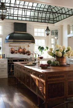English Style Designer Kitchen - I want the skylight!