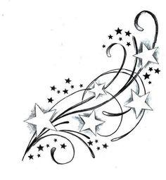 Tatouage étoile filante les Top 150 plus beaux Tatouage 3D - modele de tatouage etoile