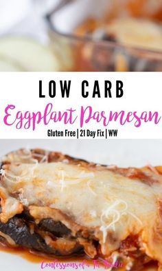 If you're trying to ease up on your carb intake but still eat delicious and hearty meals, then this recipe for healthy baked eggplant parmesan is for you! Made with only six simple ingredients, this low carb and keto eggplant parmesan dish is sure to be one of your new favorite easy dinner ideas. Dairy Free Recipes, Low Carb Recipes, Whole Food Recipes, Healthy Recipes, Healthy Meals, 21 Day Fix Breakfast, Clean Eating Breakfast, Baked Eggplant, Eggplant Parmesan
