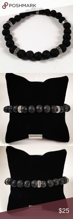 Men black lava rock celtic design beaded bracelet Men beaded bracelet. Fits most , 7.5 to 8.5 inch wrist. Handmade by me , never worn by anyone. Made with black lava beads / volcano rocks. Tibetan silver deco celtic design charms . I ship fast!!✈️ Bundle and save! ( 10 % off bundles) . Any questions let me know! No transactions outside Poshmark!! Accessories Jewelry