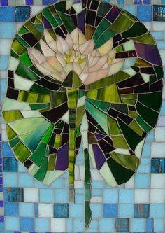 Waterlilly Tile by Catherine van Giap #mosaic #mosaicflowers #mosaicart