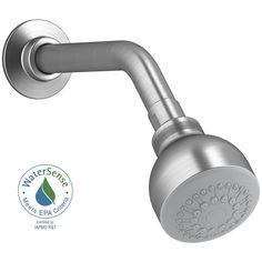 KOHLER Coralais Single Function 1-Spray 2-3/4 in. Raincan Showerhead in Brushed Chrome