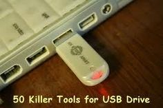 computer repair tools on usb flash drive
