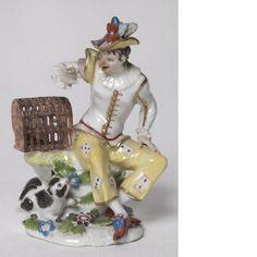Figurin, Harlekin sittande med fågel