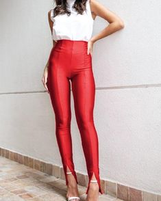 High Waist Slit Pants Women's Best Online Shopping - Offering Huge Discounts on Dresses, Lingerie , Jumpsuits , Swimwear, Tops and More. Casual Tie, Bell Bottom Pants, Fashion News, Fashion Blogs, Fashion Online, Latest Fashion, Women's Fashion, Fashion Pants, Wide Leg Pants