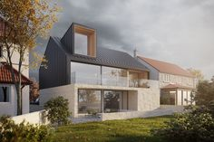 North Sea House by Ian Hazard Architect. The building is designed to provide bot… Contemporary Architecture, Architecture Design, House By The Sea, House Extensions, Facade House, Beautiful Buildings, Modern House Design, Future House, Building A House