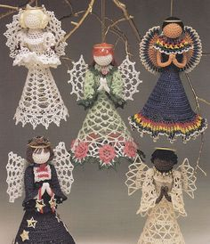 christmas ornaments crafts: mexican angel - crafts ideas - crafts for kids Christmas Ornament Crafts, Christmas Angels, Holiday Crafts, Ornament Tree, Christmas Tree, Angel Ornaments, July Crafts, Crochet Crafts, Crochet Dolls