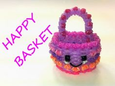 Happy Basket Tutorial by feelinspiffy (Rainbow Loom) - YouTube
