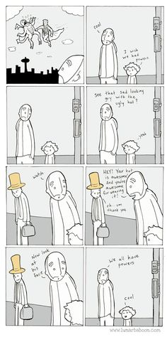 "emilyvgordon: ""lunarbaboon: ""Lunarbaboon Book Facebook Twitter Patreon "" We all have superpowers. """