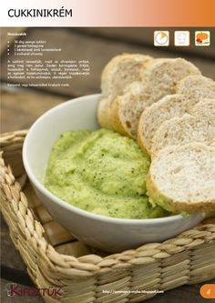 Cukkini krém - Kifőztük, online gasztromagazin Vegan Vegetarian, Vegetarian Recipes, Healthy Recipes, Cold Dishes, Hungarian Recipes, Dip Recipes, Healthy Snacks, Healthy Lifestyle, Food Porn
