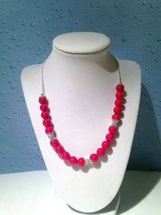 Rose river stone necklace