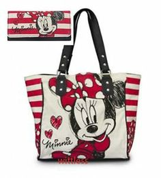 disney purses | AUTHENTIC-DISNEY-Loungefly-Minnie-Mouse-PURSE-and-WALLET-Red-White ...