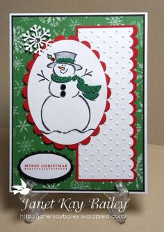Frosty-Merry Monday by bspruce - Cards and Paper Crafts at Splitcoaststampers