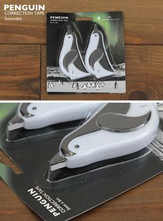 Wow! penguin correction tape!